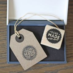 Handmade with Love Stamp and Ink Pad - available from www.theweddingofmydreams.co.uk