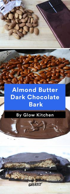 2. Almond Butter Dark Chocolate Bark #cleaneating #healthier #desserts http://greatist.com/eat/healthy-desserts-clean-eating-recipes