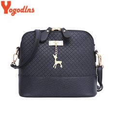 Yogodlns New female bag quality pu leather soft face women bag wild shoulder messenger bag Quilted shell bag pendant cute deer Black Handbags, Luxury Handbags, Fashion Bags, Fashion Backpack, Fashion Purses, Women's Fashion, Leather Purses, Pu Leather, Womens Fashion Casual Summer