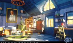 Discover the art of Sylvain Sarrailh, a french illustrator working on 'Les Voisins du Chaos', a free online comic. Environment Concept Art, Environment Design, Drawn Art, Prop Design, Game Design, Cover Design, Animation Background, Interior Concept, Visual Development