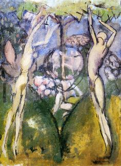 Young Girl and Man in Spring - Duchamp Marcel