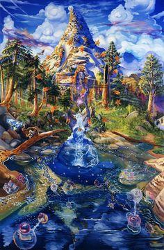 New Trippy Nature Art Sacred Geometry Ideas Fantasy Kunst, Fantasy Art, Psychadelic Art, Psy Art, Mystique, Visionary Art, Sacred Art, Surreal Art, Sacred Geometry