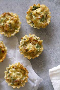 French Onion Tartlets | http://girlversusdough.com /girlversusdough/ /athensfoods/