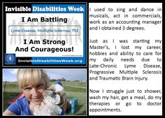 My story for the 2015 Invisible Disabilities Week. www.InvisibleDisabilitiesWeek.org, www.InvisibleDisabilities.org, www.SherriConnell.com