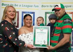 Maverick received an NRL birth certificate today after winning the @SSFCRABBITOHS baby race @ANZStadium. Pencil him in for 1st grade in http://2035pic.twitter.com/dnPMATDlLf