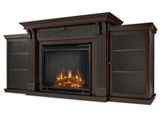 Barnwood entertainment center with fireplace dark walnut electric fireplace entertainment unit barnwood entertainment center fireplace Media Fireplace, Faux Fireplace, Electric Fireplace Tv Stand, Electric Fireplaces, Eating Before Bed, Interior Barn Doors, Basement Remodeling, Bathroom Renovations, Barn Wood