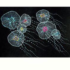 #jellyfish#sea#abstract #penwork #artshow #artshare #art#painting #drawing #медуза #рисунок#иллюстрация #illustration #illustrator
