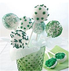 St. Patrick's Day cake pops!
