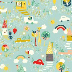 Happy Town - can't wait till this fabric comes out.