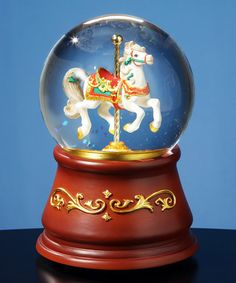 Another great find on #zulily! Heritage Single Horse Carousel Musical Water Globe #zulilyfinds