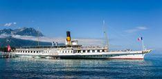 S/S La Suisse - ABVL | Association des amis des bateaux à vapeur du Léman Monuments, Lakefront Property, Paddle Boat, Parasailing, Boat Rental, Lake George, Boat Tours, The Great Outdoors, Great Places