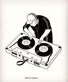 No photo description available. Arte Hip Hop, Hip Hop Art, Tattoo Musica, Hellboy Tattoo, Hop Tattoo, Dj Images, Music Drawings, Old School Music, Music Wallpaper