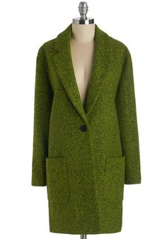 Near and Fern Coat. Keep your friends close and ferns closer - thats your motto! #green #modcloth