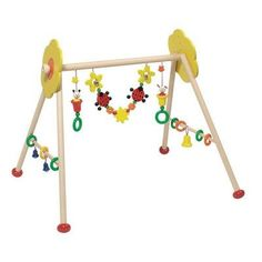 Heimess 763334 Wooden Baby Gym Ladybird and Flower for sale online