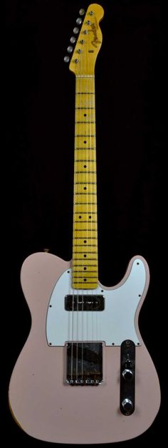 Fender 1963 Custom P90 Relic Telecaster Faded Shell Pink