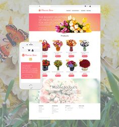 #Responsive #WebDesign for #Flowers #Shop #OnlineStore #Florist