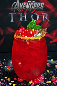 An Epic Thor Stormbreaker Cocktail inspired by Avengers Infinity War just in time for coming to theaters! via An Epic Thor Stormbreaker Cocktail inspired by Avengers Infinity War just in time for coming to theaters! Kid Drinks, Liquor Drinks, Frozen Drinks, Non Alcoholic Drinks, Party Drinks, Summer Drinks, Cocktail Drinks, Cocktail Tequila, Beverages