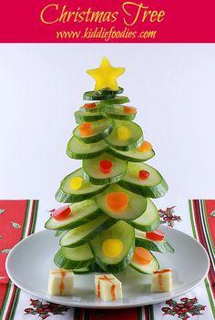 adorable veggie Christmas tree