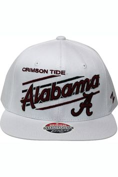 ab9f360a Zephyr Up Shot White University Of Alabama Crimson Tide Snapback Hat White  - Burgundy - Black $14.99