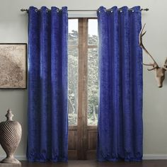 Modern Solid Bright Blue Curtain  #curtains #decor #homedecor #homeinterior #blue