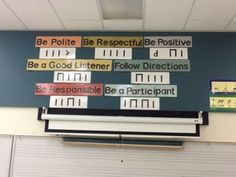 Rhythmic Rules for music classroom- stealing this idea for our CARES descriptions!