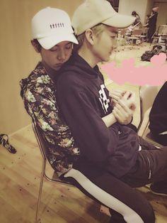 Ren an Baekho. Nu'est ::: you mean LuHan and Baekho ;;; looks like Minki thooo...