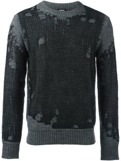 DIESEL Distressed Jumper. #diesel #cloth #jumper