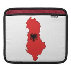 Albania - map and flag - iPad - Macbook Air sleeve - zarf/cante per Macbook Air / iPad - Shqiperia - harta e Shqiperise dhe shqiponja e flamurit