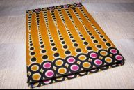 African printed cloth covered notebook.