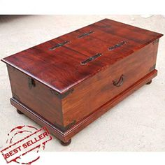 Lincoln Study Double Top Storage Trunk Coffee Table.