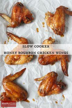 Slow Cooker Honey Bourbon Chicken Wings - MomAdvice