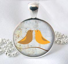 Art Pendant Paper Bird Resin Pendant Picture by PishPoshPendants, $8.95