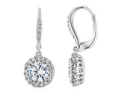 Crystal Drop Earring 4.0 Carats (ctw) in Sterling Silver