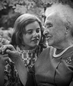Actress Patty Duke with Helen Keller
