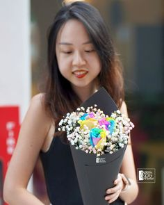 Rose Bouquet, Flower Bouquets, Flowers, Public Holidays, Rainbow Roses, Flower Delivery, Special Day, Sunshine, Shapes
