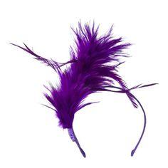 Fancy Feather Fascinator - Purple OSFM SS/Hat http://www.amazon.com/dp/B00FYZ7X74/ref=cm_sw_r_pi_dp_0PfIub0VS7DDN