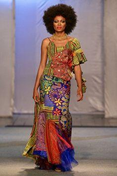 Okapi de la Mode @ Kinshasa Fashion Week 2013 | FashionGHANA.com #AfricaFashionLongDress #AfricanPrints#ankara #AfricanStyle #AfricanInspired #StyleAfrica #AfricanBeauty #AfricanFashion #AfricaInFashion