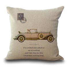 Vintage Car Pillow Case