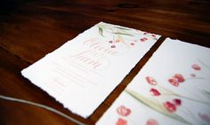 Bespoke Invitation by Cut Above Stationery - custom calligraphy and illustrations