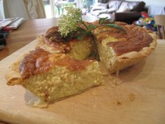 Sambocade - Medieval Elderflower and Cheese Tart; This recipe is derived from the fourteenth century recipe book, the Forme of Cury, produced by the Chief Master of Cooks of Richard II.