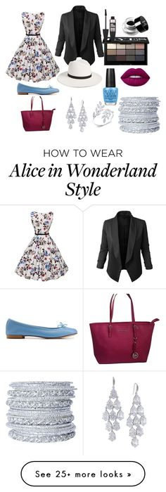 """Untitled #16"" by kittyluv0327 on Polyvore featuring Repetto, Michael Kors, LE3NO, Janessa Leone, Carolee, Chamak by Priya Kakkar, Anne Sisteron, OPI, Lime Crime and Bobbi Brown Cosmetics"