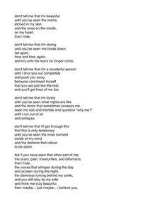 Deep Sad Quotes | quote life depression sad pain alone broken dark help Monsters deep ...