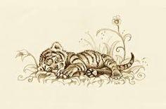 Image result for tiger cub tattoo designs