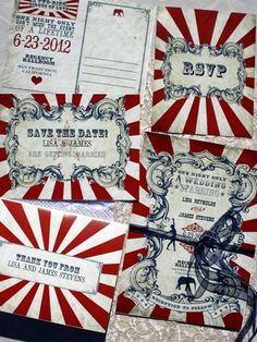 Vintage Carnival Wedding Stationary – From Vintage Wedding Press, order these customizable vintage carnival stationary printables, which can be ordered, printed and snipped from home! To find out more about this great collection of wedding stationary, take a look at our Vintage Carnival Wedding Invitation feature. Get the DIY Printables here.