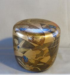 Japanese lacquer tea caddy