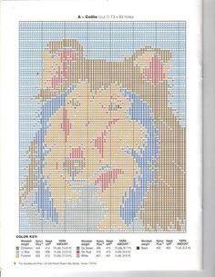 Dog Portraits in longstitch