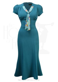 Sweet Thing Dress in Teal & Love Story 1930s Fashion, Retro Fashion, Girl Fashion, Vintage Fashion, Victorian Fashion, Fashion Fashion, Vintage Style Dresses, Vintage Outfits, Vintage Clothing