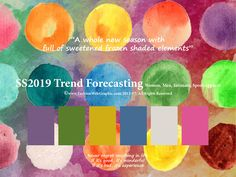 SpringSummer2019 Trend Forecasting for Women, Men, Intimate, Sport Apparel - A whole new season with full of sweetened frozen shaded elements  www.JudithNg.com