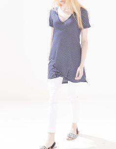 Camiseta larga rayas