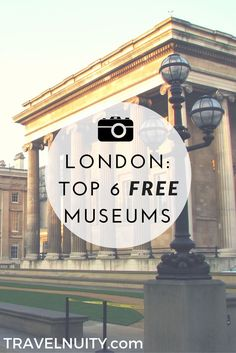 Top 6 Free Museums to Visit in London London has a huge number of museums, many of which they are free. Here are six of the best free London museums to include in your next visit. Museum Logo, Art Museum, The Places Youll Go, Places To Visit, Louvre Museum, London Museums, Museum Of London, London Pubs, Things To Do In London